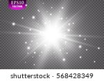 glow light effect. starburst... | Shutterstock .eps vector #568428349