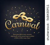 gold lettering carnival with... | Shutterstock .eps vector #568430911
