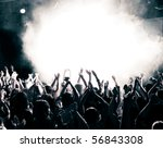 Crowd At A Music Concert ...