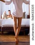 woman in a shirt of her...   Shutterstock . vector #568433335