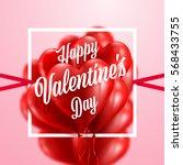 red heart balloons valentine's... | Shutterstock .eps vector #568433755