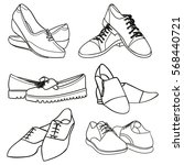 collection of women's shoes | Shutterstock . vector #568440721