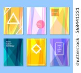 set of colored abstract posters   Shutterstock .eps vector #568441231