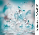 amazing butterfly fairy of... | Shutterstock . vector #568447519