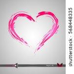 hearts. grunge stamps... | Shutterstock .eps vector #568448335