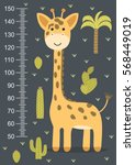 kids height meter with a cute... | Shutterstock .eps vector #568449019