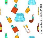 electronic cigarette pattern.... | Shutterstock .eps vector #568449481