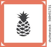 pineapple vector icon. tropical ... | Shutterstock .eps vector #568451731