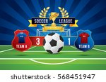 vector of soccer league with... | Shutterstock .eps vector #568451947