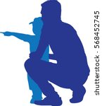 silhouettes vector of side view ... | Shutterstock .eps vector #568452745