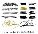 black and golden strokes.... | Shutterstock .eps vector #568453147