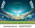 american football field with... | Shutterstock .eps vector #568455325