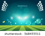 sports stadium with lights ... | Shutterstock .eps vector #568455511