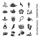 spa icon set vector  | Shutterstock .eps vector #568456744