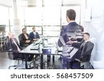 successful team leader and... | Shutterstock . vector #568457509