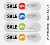 web sale banner | Shutterstock .eps vector #568458775