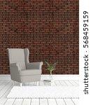 modern bright interior . 3d...   Shutterstock . vector #568459159