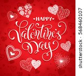 happy valentine's day greeting... | Shutterstock .eps vector #568460107