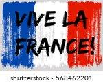 french flag paint brush strokes ...   Shutterstock .eps vector #568462201