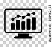 monitoring icon. vector... | Shutterstock .eps vector #568462435