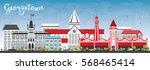 georgetown skyline with gray... | Shutterstock .eps vector #568465414