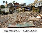 India - Bicicle and Clothes in Mumbai slums