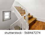 beautiful staircase with... | Shutterstock . vector #568467274