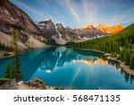 moraine lake | Shutterstock . vector #568471135