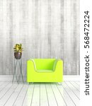 modern bright interior . 3d... | Shutterstock . vector #568472224