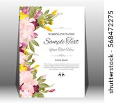 wedding invitation or greeting... | Shutterstock .eps vector #568472275
