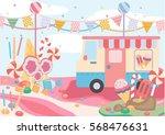 sugar land vector. sweet... | Shutterstock .eps vector #568476631