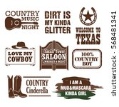 country quotes and design... | Shutterstock .eps vector #568481341