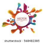 colorful splash  with circle... | Shutterstock .eps vector #568482385