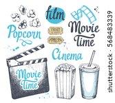 movie time vector illustration... | Shutterstock .eps vector #568483339