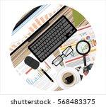 flat design illustration... | Shutterstock .eps vector #568483375