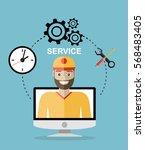 business customer care service...   Shutterstock .eps vector #568483405