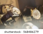 beautiful brown leather watch... | Shutterstock . vector #568486279