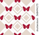 seamless origami butterfly... | Shutterstock .eps vector #568494175