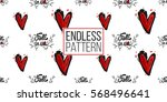 vintage seamless pattern with... | Shutterstock .eps vector #568496641