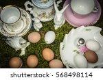 served for easter meal old... | Shutterstock . vector #568498114