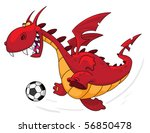 an illustration of a dragon... | Shutterstock .eps vector #56850478