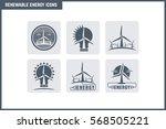 vector renewable energy icon... | Shutterstock .eps vector #568505221
