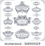 collection of vintage patterns. ... | Shutterstock .eps vector #568505329