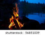 camp fire | Shutterstock . vector #56851039