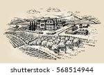 farm sketch. farming ... | Shutterstock .eps vector #568514944