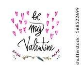 be my valentine. happy... | Shutterstock .eps vector #568522699