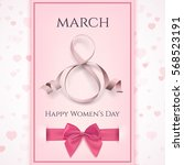 8 march greeting card template. ... | Shutterstock .eps vector #568523191