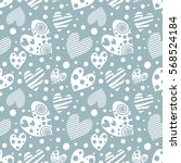 seamless vector pattern with... | Shutterstock .eps vector #568524184