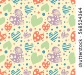 seamless vector pattern with... | Shutterstock .eps vector #568524364