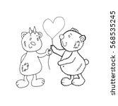 bear isolated vector on white... | Shutterstock .eps vector #568535245